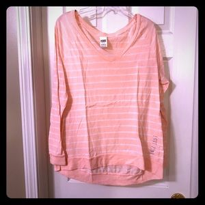 Pink long sleeved T